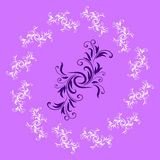 Abstract Purple Design Pattern Royalty Free Stock Photo