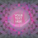 Abstract purple design with your text here and colored triangles Stock Photos