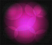 Abstract purple dots on dark background Stock Images