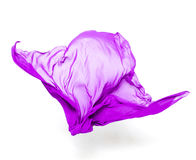 Abstract purple fabric in motion Royalty Free Stock Images