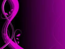 Abstract Purple Floral Background Stock Image