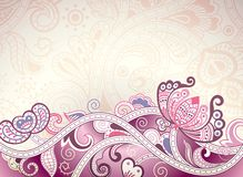Abstract Purple Floral Background Stock Images