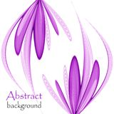 Abstract floral background on a white background. Abstract purple floral background on a white background Stock Illustration