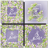 Abstract Purple Floral Greeting card Royalty Free Stock Photography