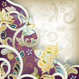 Abstract Purple Floral Scroll Royalty Free Stock Photos
