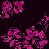 Abstract purple flower background Stock Photo