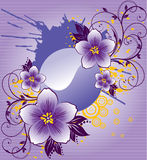 Abstract purple flowers. Vector, illustration Royalty Free Stock Images