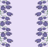 Abstract of Purple Flowers With Stems Stock Images