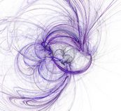 Abstract purple fractal on white background. Fantasy fractal texture. Digital art. 3D rendering. Computer generated image. Royalty Free Illustration