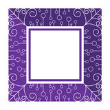 Abstract purple frame. By line and curve Stock Photos