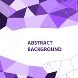 Abstract purple geometric background with polygon design Royalty Free Stock Photos