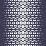 Abstract purple geometric hexagon halftone gradient pattern royalty free illustration