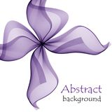 Abstract purple gift bow made of transparent ribbons. On a white background Royalty Free Stock Photos