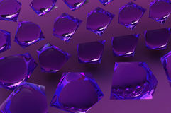 Abstract purple glass crystals Royalty Free Stock Photography