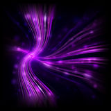 Abstract purple glowing light background. Beautiful dark design, illuminated blur lights, shiny violet glitters and curves, black modern wallpaper, party Royalty Free Stock Photography