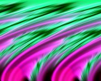 Abstract purple green colors and background. Lines in motion. Abstract colors and lines in motion, green, phosphorescent, violet hues. Creative curves and Stock Image