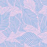 Abstract Purple Jungle Print. Exotic Plant. Tropical Pattern, Stock Photography