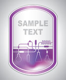 Abstract purple laboratory label Royalty Free Stock Photos