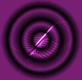 Abstract purple laser light background vector Stock Image
