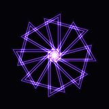 Abstract purple neon shape, futuristic wavy fractal of star Royalty Free Stock Photography