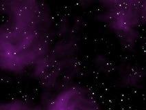Abstract purple night sky Stock Image