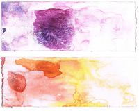 Abstract purple and orange watercolor background. Art is created and painted by photographer Royalty Free Stock Images