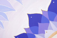 Abstract purple painted picture mandala of Stock Photos