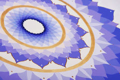 Abstract purple painted picture mandala of Royalty Free Stock Image