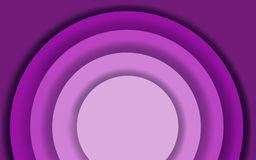 Abstract purple paper cut background with circle shapes. Modern raster illustration for concept design royalty free illustration