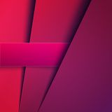 Abstract purple paper layers vector background Stock Photos