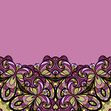 Purple bottom border Royalty Free Stock Images