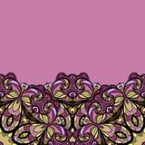 Purple bottom border Royalty Free Stock Images