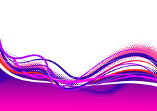 Abstract purple pink lines. Stock Photos