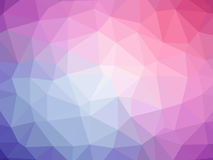 Abstract purple pink polygonal background. Abstract purple pink gradient low polygon shaped background Stock Photo