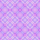 Abstract purple and pink tile pattern, Violet ornate tiled texture background, Seamless illustration Royalty Free Stock Photo