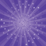 Abstract Purple rays and stars background. Vector EPS 10 cmyk Royalty Free Stock Image