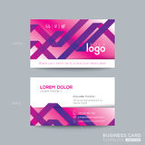 Abstract purple ribbon background business card design Royalty Free Stock Image