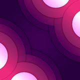 Abstract purple round shapes background Stock Photo
