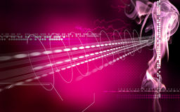 Abstract purple space illustration Royalty Free Stock Images