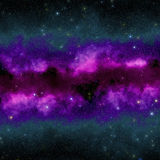 Abstract purple space nebula Royalty Free Stock Photography