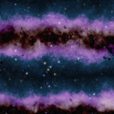 Abstract purple space nebula Royalty Free Stock Photo