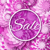 Abstract Purple  Spring Summer Sale colorful banner for business. Royalty Free Stock Photography
