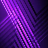 Abstract purple square digital background,. Geometric pattern with intersected glowing stripes. 3d render illustration Royalty Free Stock Photography