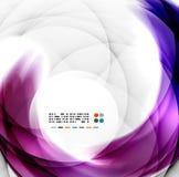 Abstract purple swirl design Stock Photos