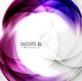 Abstract purple swirl design Stock Image