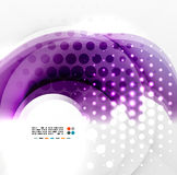 Abstract purple swirl design Stock Photos