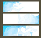 Abstract Purple Triangular Polygonal banners set  Royalty Free Stock Image