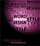Abstract purple typography background Stock Image