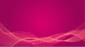Abstract purple vector background. With wave lines Stock Image