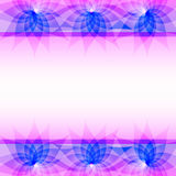 Abstract purple vector background with flowers Royalty Free Stock Photos